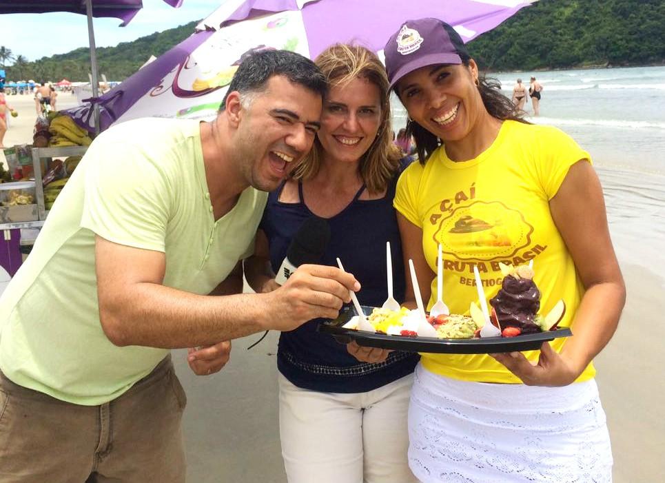 Solange Freitas provou a famosa barca de açaí (Foto: Arquivo Pessoal)