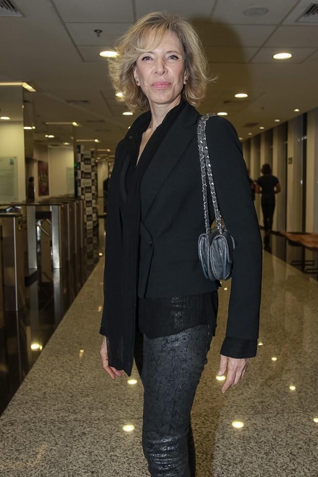 Marília Gabriela na estreia da peça Os realistas (Foto: Raphael Castello/Agnews)