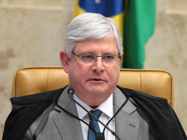 O procurador-geral da República, Rodrigo Janot, durante sessão desta quarta-feira no STF (Foto: Carlos Humberto/SCO/STF)