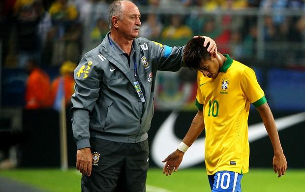 luiz felipe scolari neymar amistoso arena do grêmio (Foto: Agência AFP)