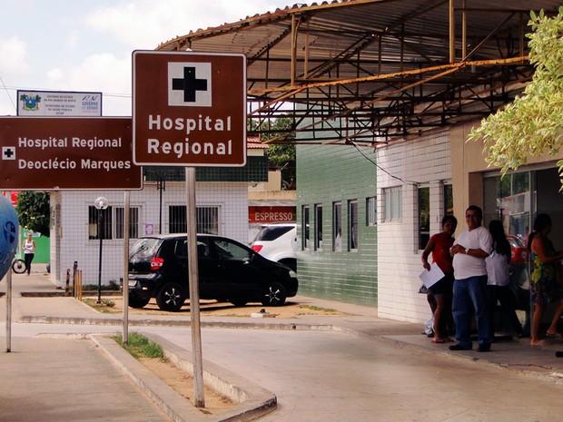 Hospital Regional Deoclécio Marques de Lucena, em Parnamirim, RN (Foto: Ricardo Araújo/G1)