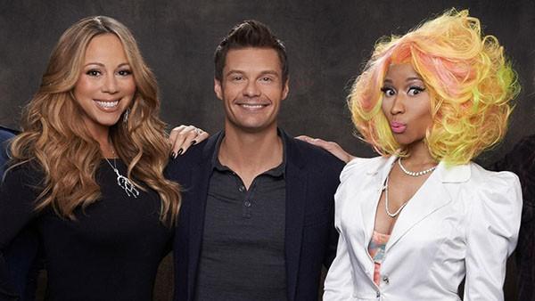 Nicki Minaj, Ryan Seacrest e Mariah Carey (Foto: Divulgação)