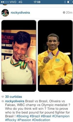 Michael Oliveira propõe luta contra Esquiva Falcão (Foto: Divulgação/Instagram)