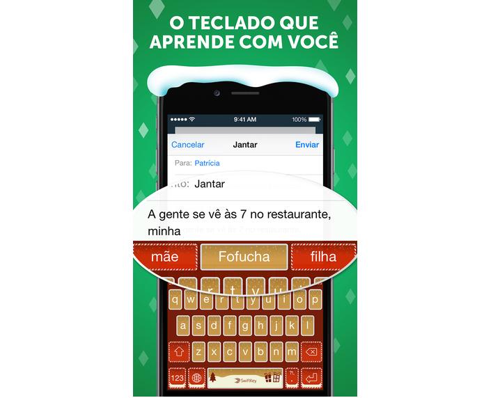 Swiftkey é uma ótima opção de teclado para iPhone, e no Plus a experiência é melhor ainda (Foto: Divulgação)