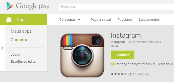 Atualize o seu Instagram para versão mais recente (Foto: Reprodução/Aline Jesus)