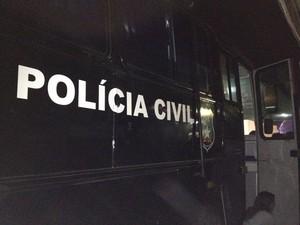 Polícia Civil garantiu a segurança dos planetários no parque Planeta com duas delegacias móveis (Foto: Juliana Neves, G1 SC)