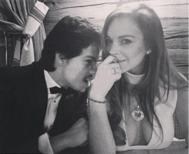Egor Tarabasov e Lindsay Lohan (Foto: Instagram/Reprodução)