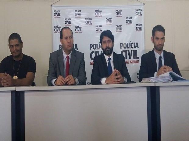 Conclusão do caso foi apresentada durante coletiva em Divinópolis (Foto: Anna Lúcia Silva/Divulgação)