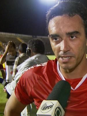 Tiago Alves, zagueiro do Mogi Mirim (Foto: Reprodução / EPTV)