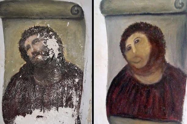 'Ecce homo', antes e depois da bizarra restauração