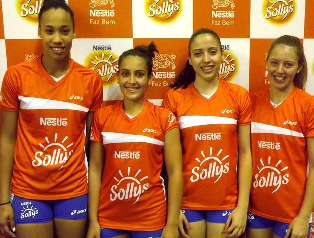 VÔlei Milka, Dani, Lana e Mariana Nardi Sollys/Nestlé (Foto: Rafael Zito / Divulgação )