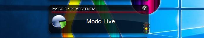 Modo Live reserva um espaço para armazenamento de dados do sistema(Foto: Reprodução/Edivaldo Brito)