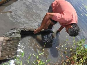 Pescador encontrou canoas e outros objetos antigos (Foto: Canindé Santos)