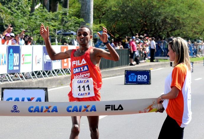 Leul Gebresilase vencedor Meia Maratona Rio de Janeiro (Foto: André Durão / Globoesporte.com)