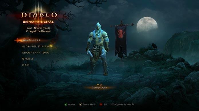 Diablo 3: como criar e deletar novos heróis no game (Foto: Reprodução/Murilo Molina)