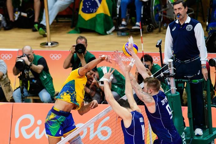 Brasil x Itália final Rio 2016 vôlei (Foto: Divulgação /FIVB)
