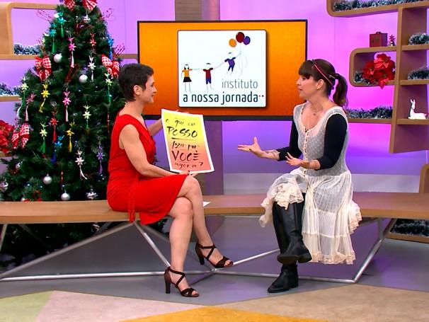 Entrevista da semana: Renata Quintella explica a proposta do Instituto A Nossa Jornada; como será? (Foto: Globo)