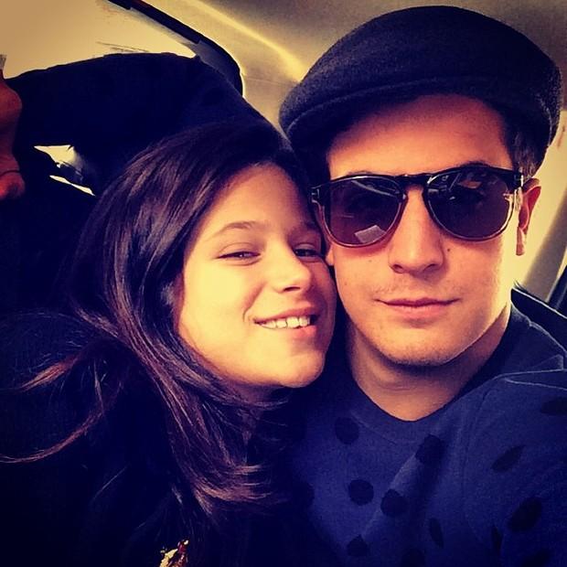 Enzo Celulari com a irmã, Sophia, em Nova York, nos Estados Unidos (Foto: Instagram/ Reprodução)