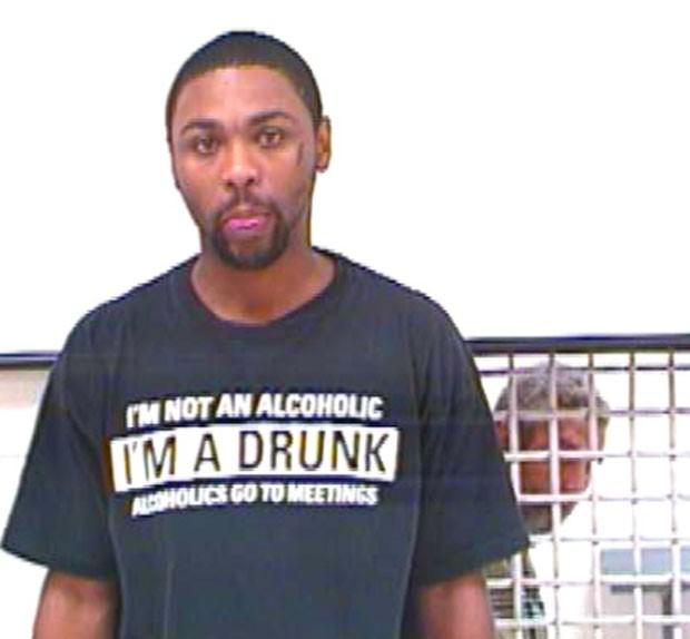 Timothy Duane Brown foi acusado de embriaguez em público (Foto: Osage County Jail/Divulgação )
