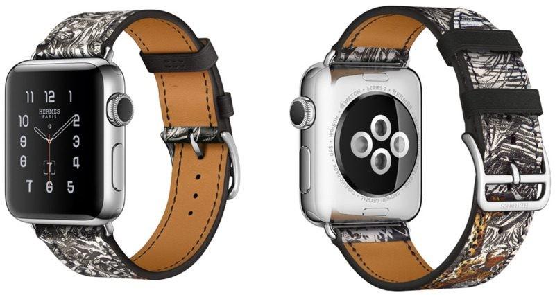A pulseira do Apple Watch feita pela Hermès com ilustração de Robert Dallet (Foto: Divulgação)