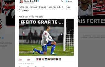 Na internet, Santa Cruz provoca o Cruzeiro após goleada no Recife