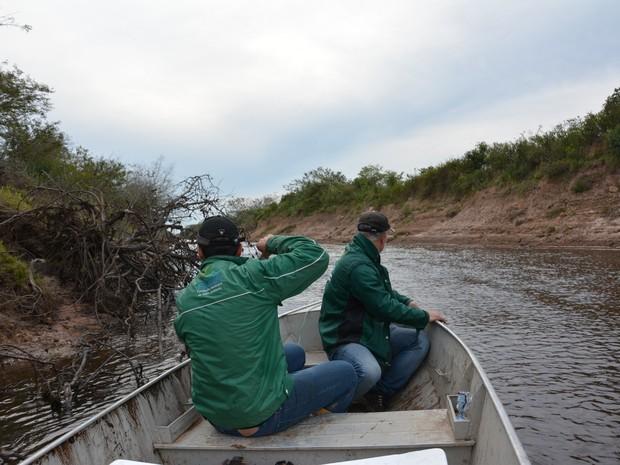 Segundo Müller, nível do Rio Gravataí tem apresentado redução (Foto: Jackson Müller/Divulgação)