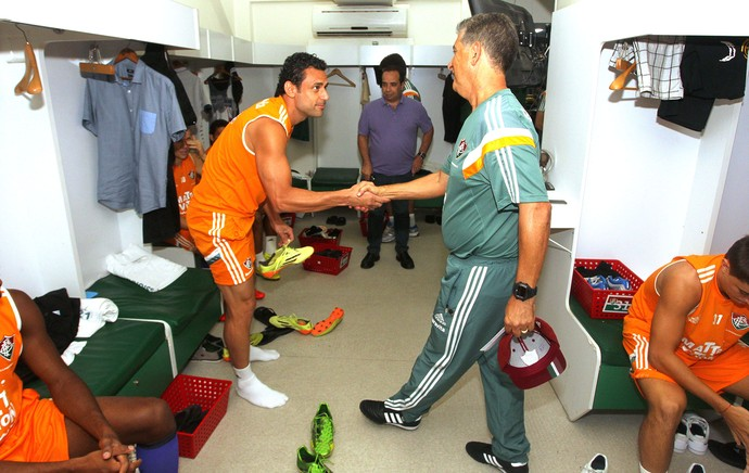 Ricardo Drubscky e Fred Fluminense (Foto: Nelson Perez / Fluminense)