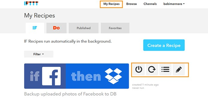 Plataforma mantém uma área para a edição de backups (Foto: Reprodução/Barbara Mannara)