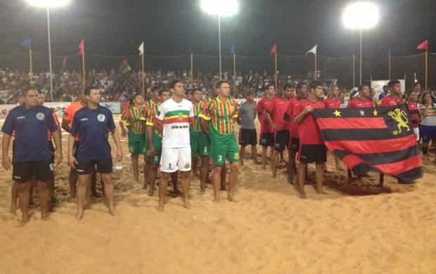Sport e Sampaio ficaram lado a lado na cerimônia de abertura (Foto: Zeca Soares/G1)