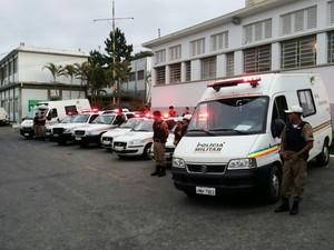 Operação Impacto Divinópolis  (Foto: Polícia Militar/Divulgação)