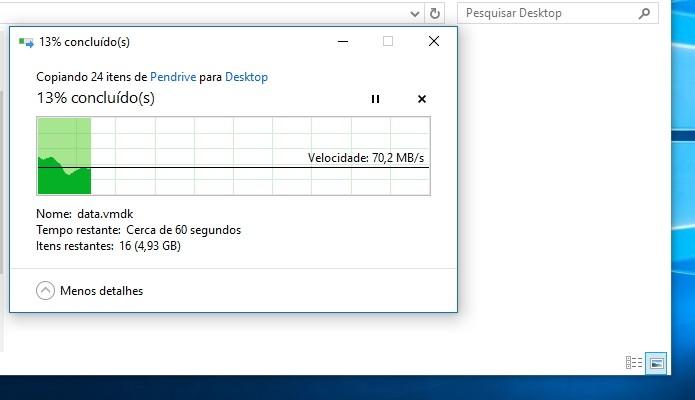 Mova seus arquivos temporariamente para o computador (Foto: Reprodução/Paulo Alves)