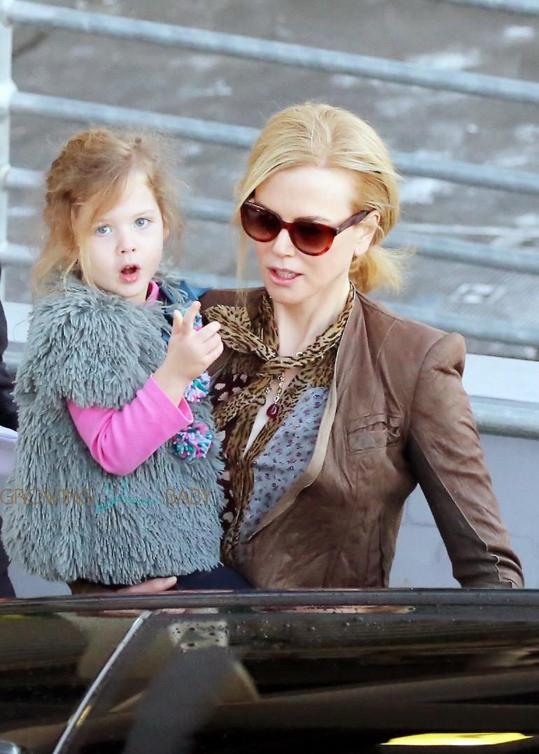 Nicole Kidman com sua filha Sunday (Foto: Divulgação)