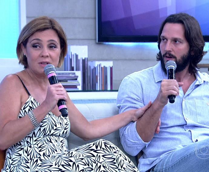 Adriana Esteves e Valdimir Brichta (Foto: TV Globo)