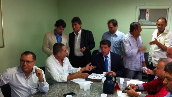 federação paraibana de futebol, reunião, campeonato paraibano (Foto: Pedro Alves / GloboEsporte.com/pb)