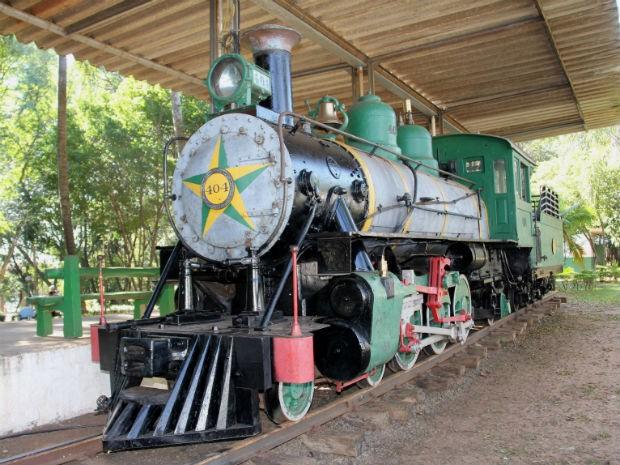Locomotiva está localizada no Bosque da Comunidade em Bauru (Foto: Prefeitura de Bauru/Divulgação)