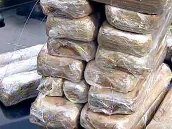 Droga foi apreendida durante fiscalização an BR-369, em Londrina (Foto: Reprodução/RPCTV)