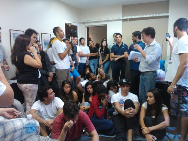 Alunos ocupam há 18 dias a reitoria da Gama Filho (Foto: Arquivo Pessoal)