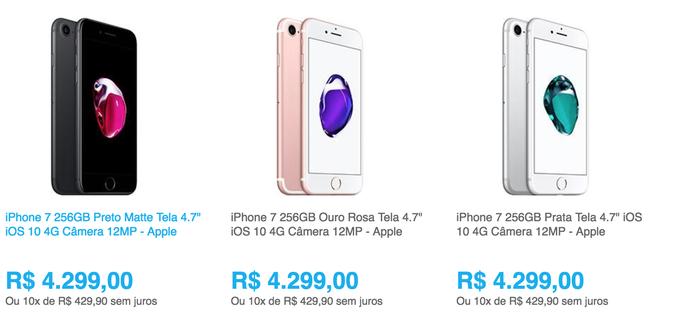 Loja virtual lista preços do novo iPhone (Foto: Reprodução)