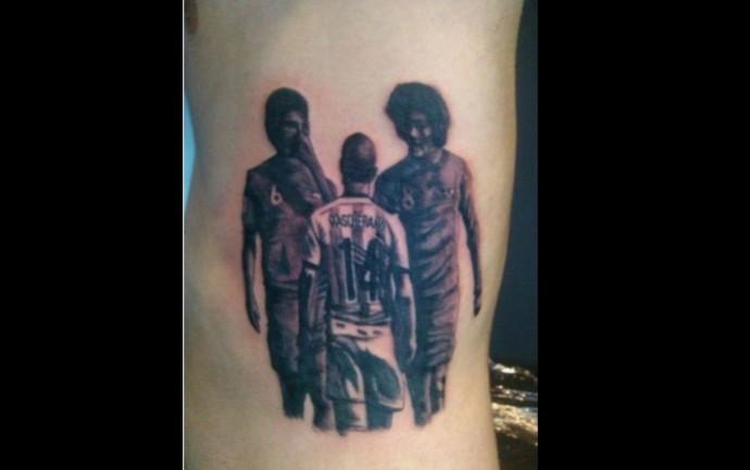 Outro torcedor também faz tatuagem da encarada de Mascherano (Foto: Reprodução/ Facebook)