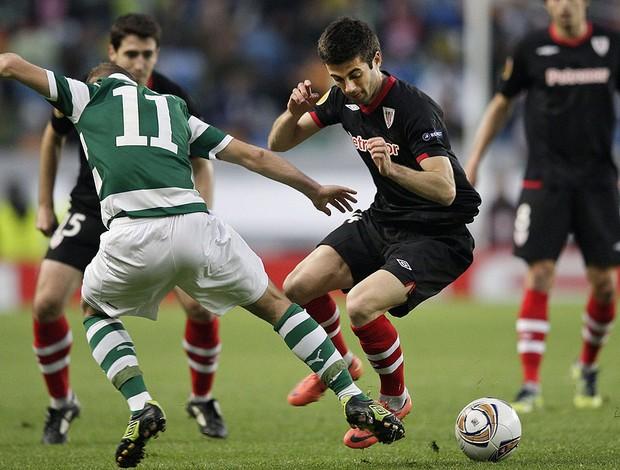 Susaeta e Diego Capel - Sporting Portugal e Athletic Bilbao (Foto: A.g EFE)