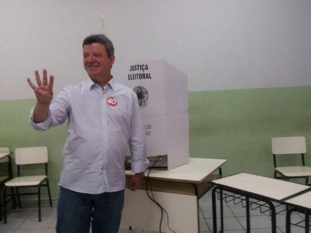 Eleições Uberaba Lerin (Foto: Eduardo Idalo/G1)