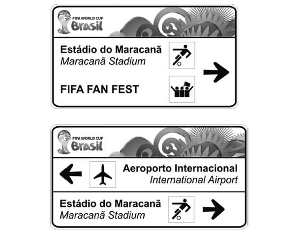 placas de sinalização para a Copa 2014  (Foto: Diário Oficial da União)
