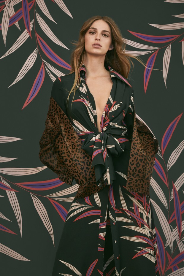 Talita von Furstenberg, Diane von Furstenberg's granddaughter, models the Autumn/Winter 2018 collection (Foto: COURTESY OF DIANE VON FURSTENBERG)