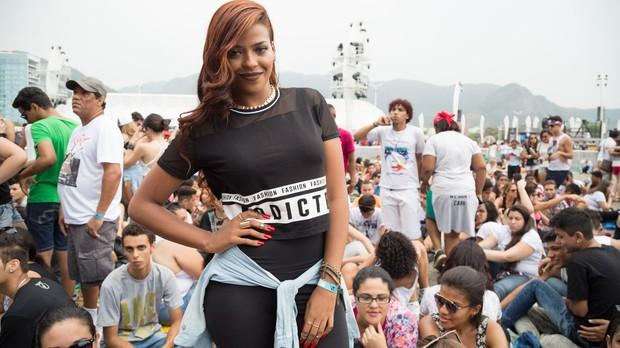 Ssia de Rihanna no Rock in Rio (Foto: Samuel Kobayashi)