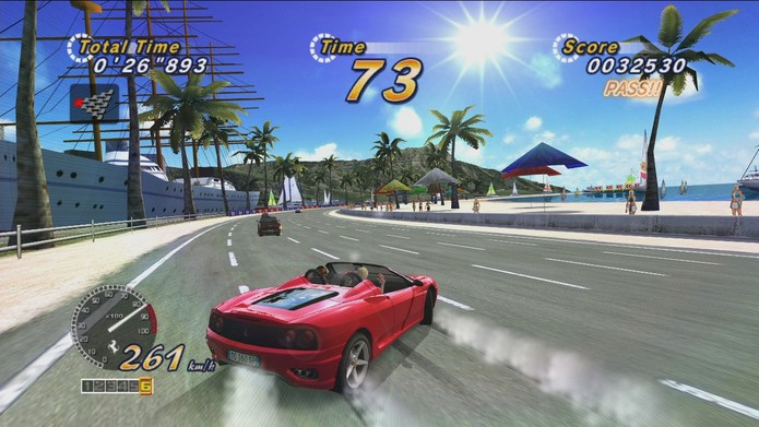 O Out Run de PS3 e Xbox 360 (Foto: Divulgação/Sega)