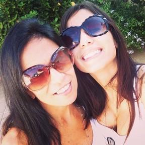 Anitta e a mãe (Foto: Arquivo Pessoal)