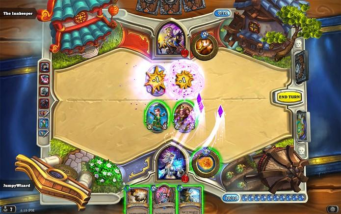 Para ganhar em HearthStone é preciso diminuir a vida do oponente até zero pontos (Foto: Divulgação/Blizzard)