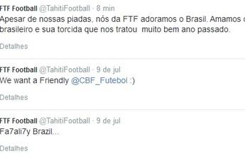 """BLOG: Taiti ironiza goleada sofrida pela Seleção, mas garante: """"Adoramos o Brasil"""""""