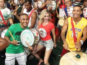 Filha de Monique Evans, Barbara vai estrear na Sapucaí pela Grande Rio (Foto: Rodrigo dos Anjos/Divulgação/G1)