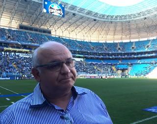Romildo Bolzan antes do jogo contra o Goiás, na Arena (Foto: Diego Guichard)